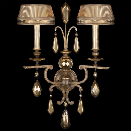 Fine Art Lamps Golden Aura 2 Light Wall Sconce