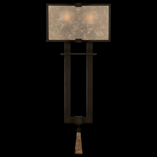 Fine Art Lamps Singapore Moderne Silver Two Light Wall Sconce