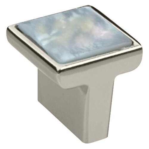 "Bosetti-Marella Genuine Mother of Pearl 1.18"" Square Knob"