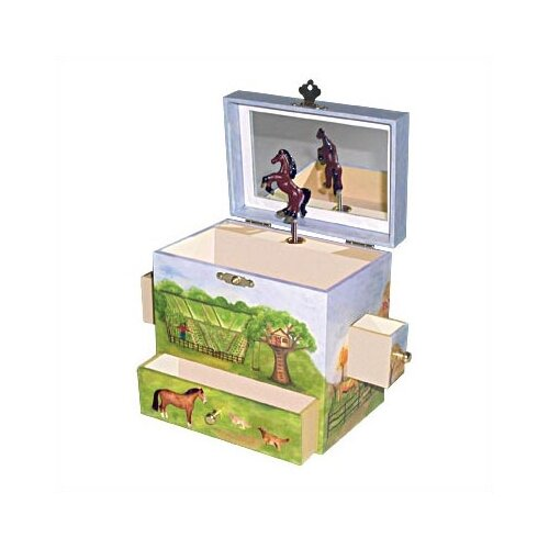 "Enchantmints Horse Ranch 6"" High Treasure Jewelry Box"