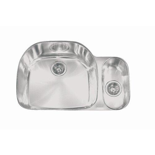 "Franke Prestige 32.25"" x 14.19 - 21.25"" Left Hand Double Bowl Kitchen Sink"