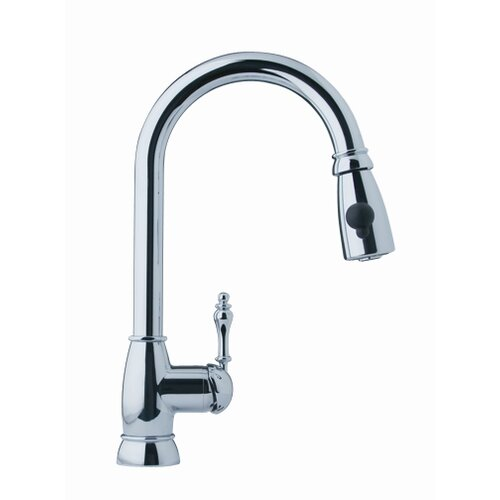 Farm House One Handle Single Hole Arc Pull Down Kitchen Faucet