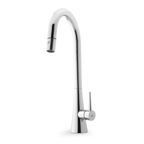 Franke Contemporary Single Handle Single Hole Goose Neck Kitchen Faucet