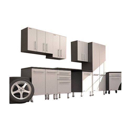Garage PRO 7' H x 14' W x 2' D 9-Piece Deluxe Storage System with ...