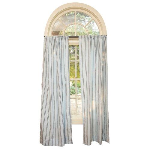 Go Mama Go Blue with Chocolate Stripes Curtain Panel
