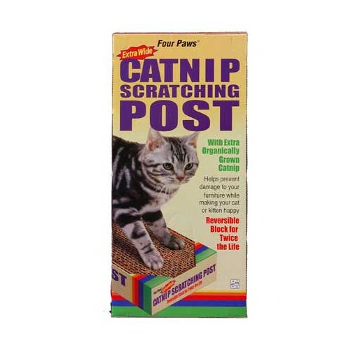 Four Paws Catnip Scratching Post Extra Wide