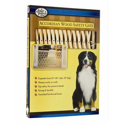 """Four Paws 24-60"""" Wood Expansion Gate"""