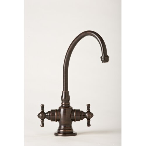 Hampton Two Handle Single Hole Hot and Cold Water Dispenser Faucet with Cross Handle
