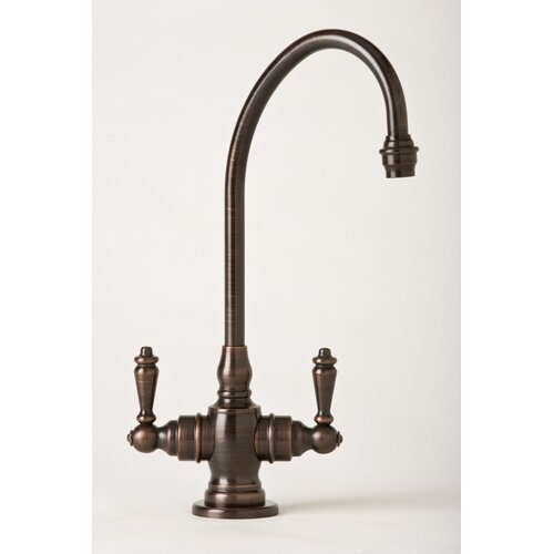 Hampton Two Handle Single Hole Bar Faucet with Lever Handle