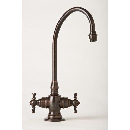 Hampton Two Handle Single Hole Bar Faucet with Cross Handle