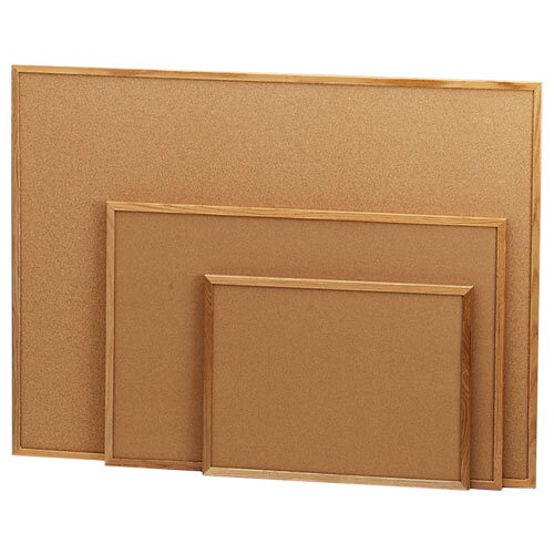Sparco Products Cork Board, Wood Frame, Various Sizes