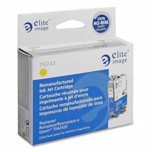 Elite Image Inkjet Cartridge, For Stylus 82, 420 Page Yield, Yellow