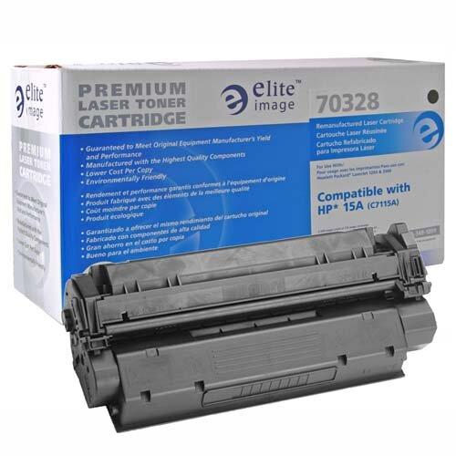 Elite Image Laser Toner Cartridge, f/ LaserJet/1200 Series, 2500 Pg Yld, BK