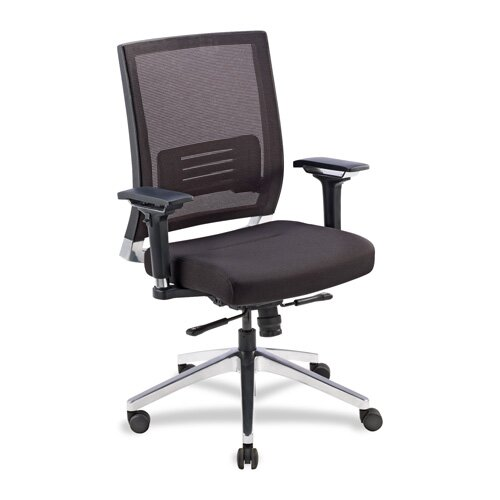 Lorell Mid-Back Executive Chair with Swivel