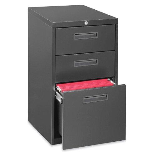 Lorell 3-Drawer Box/Box/File Mobile Pedestal Files