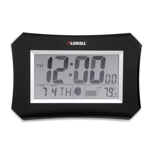 Lorell LCD Wall/Alarm Table Clock