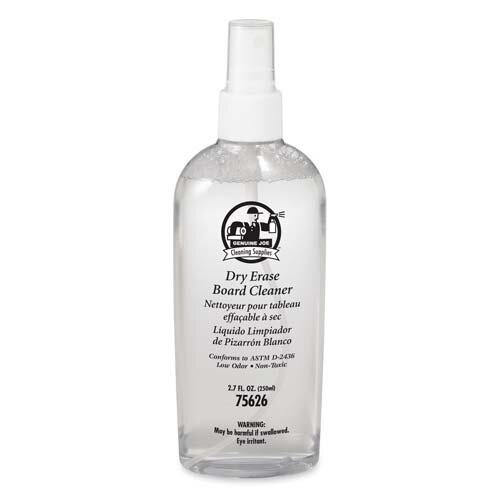 Genuine Joe Low-odor Dry-erase Board Cleaner, Clear
