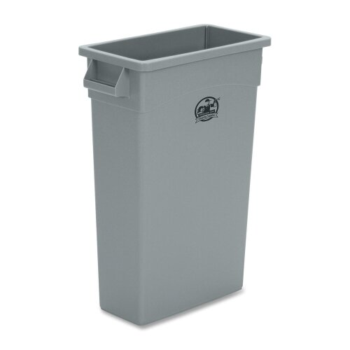Genuine Joe Space-saving Waste Container, Gray