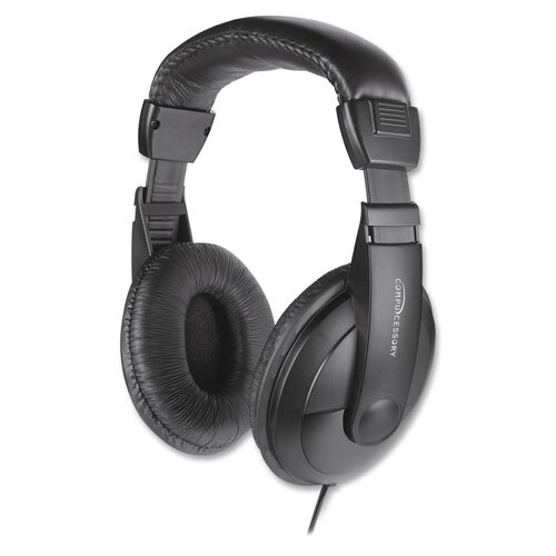 Compucessory Cushioned Stereo Headphones with Volume Control
