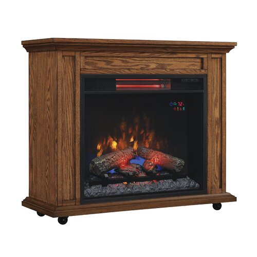 Infrared Rolling Mantel Electric Fireplace Wayfair