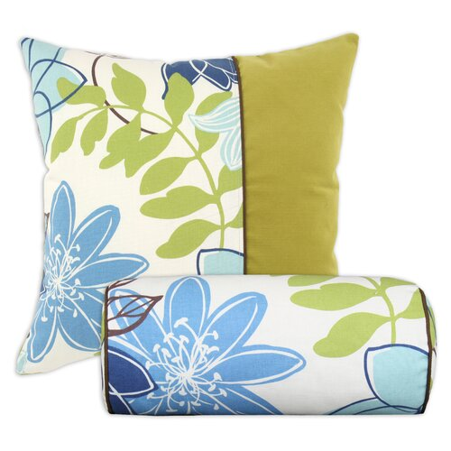 Chooty & Co Monaco Breeze Corded Bolster and Hyannis Corded Cotton Pillow