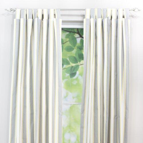 Chooty & Co  Lulu Storm Cotton Tab Top Curtain Single Panel