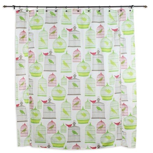 Chooty & Co Flight of Fancy Standard Cut Cotton Shower Curtain