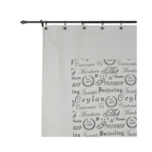 Tea House Polyester Mitered Shower Curtain