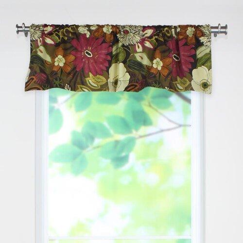 Lilith Chocolate Rod Pocket Curtain Valance