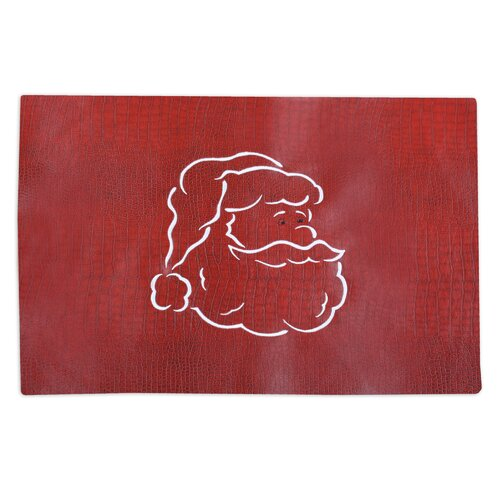 Tinga Rojo Embroidered Santa Face Placemat