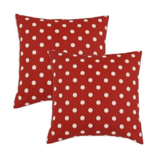 Ikat Dot Cotton Pillow (Set of 2)