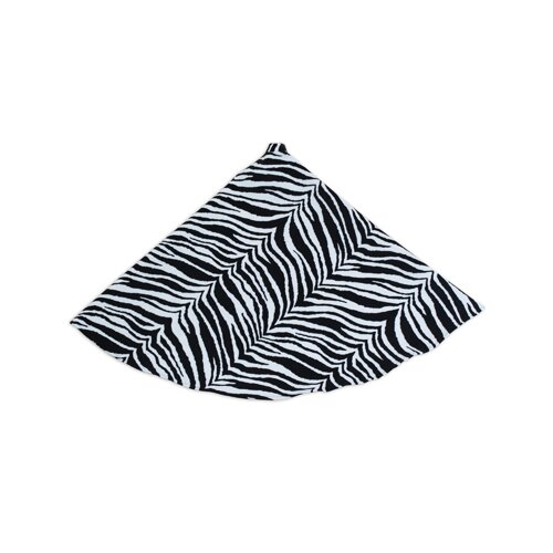 Chooty & Co Zebra Hemmed Tree Skirt