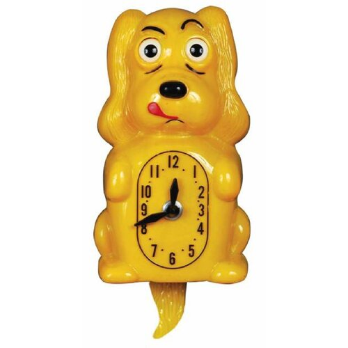 Pooch Clocker Spaniel Yellow Wall Clock