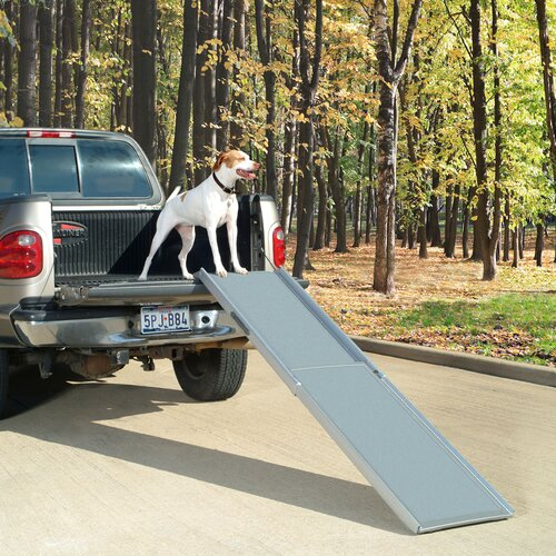 Solvit Deluxe Xl Telescoping 87 Quot Pet Ramp Amp Reviews Wayfair