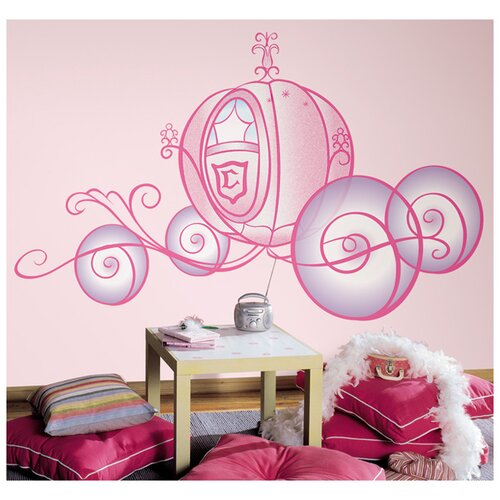Room Mates Licensed Designs Princess Carriage Wall Decal