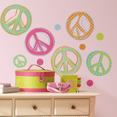 Room Mates Studio Designs Peace Signs Wall Decal