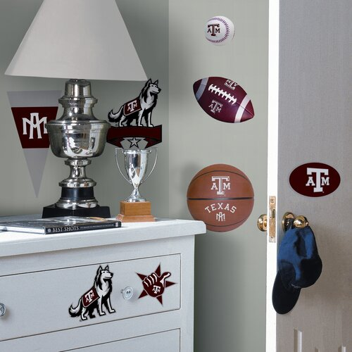 Room Mates Collegiate Sports 21 Piece Appliqué Texas A and M Wall Decal Set