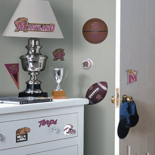 Room Mates Collegiate Sports 25 Piece Appliqué University of Maryland Terps Wall Decal Set