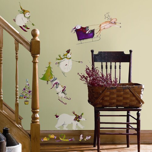 Seasonal 27 Piece Winter Holiday Wall Decal Set