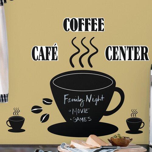 Room Mates Room Mates 22 Piece Deco Coffee Cup Chalkboard Wall Decal Set