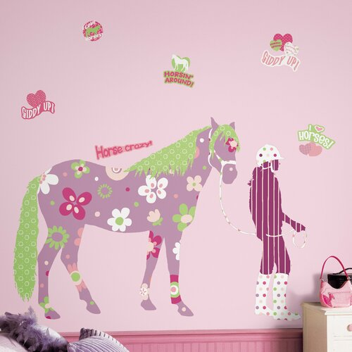 Room Mates Deco Horse Crazy Giant Wall Decal