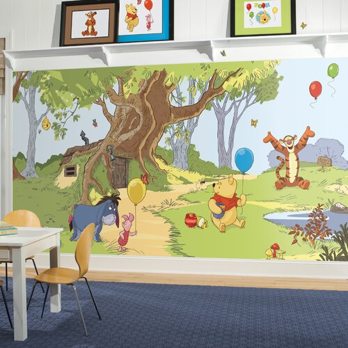 Extra Large Murals Pooh and Friends Chair Rail Wall Decal