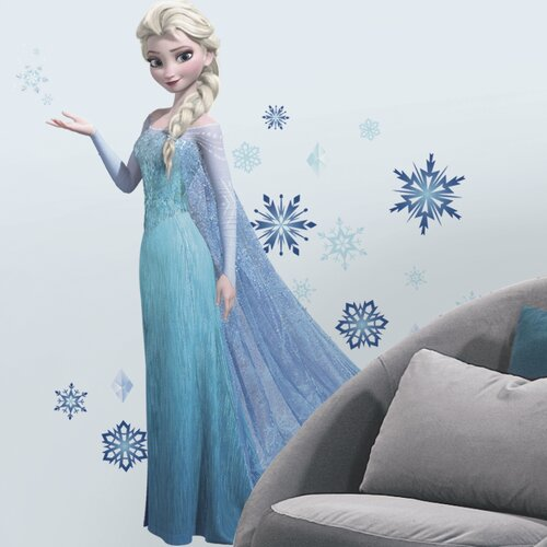 Room Mates 44 Piece Frozen Elsa Peel and Stick Giant Wall Decal Set