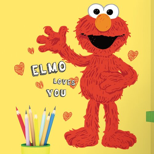 Sesame Street Elmo Loves You Giant Wall Decal