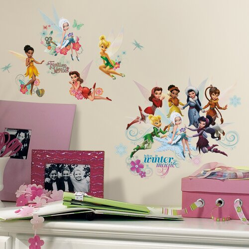 Room Mates 54 Piece Peel & Stick Wall Decals/Wall Stickers Disney Fairies Secret of The Wings Wall Decal Set