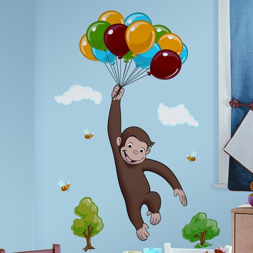 Room mates favorite characters 10 piece curious george for Curious george mural