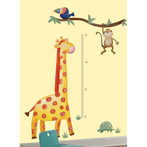 Room Mates Peel and Stick Jungle Adventure Giraffe Growth Chart