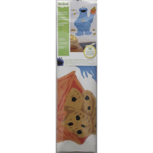 Popular Characters Sesame Street C is for Cookie Monster Peel and Stick Giant Wall Decal ...