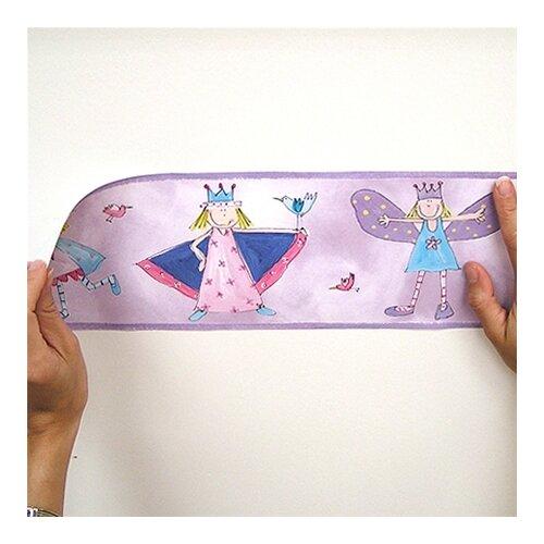 Room Mates Studio Designs Fairy Princess Peel and Stick Wallpaper Border