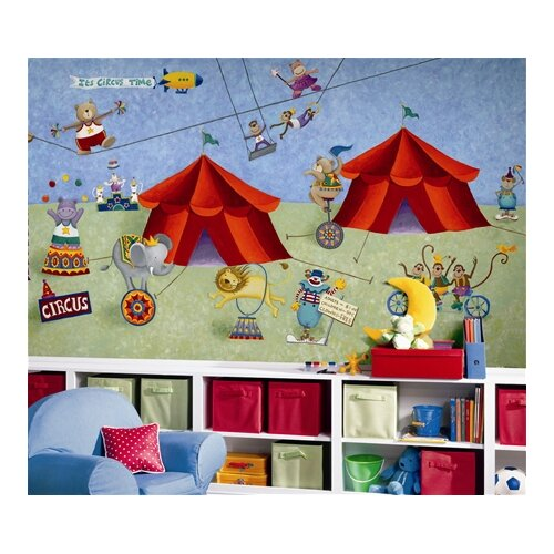 Surestrip Big Top Circus Chair Rail Prepasted Wall Mural
